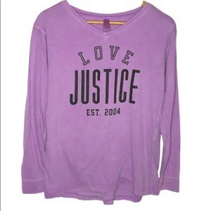 Justice Girls Long Sleeve Purple Size 16